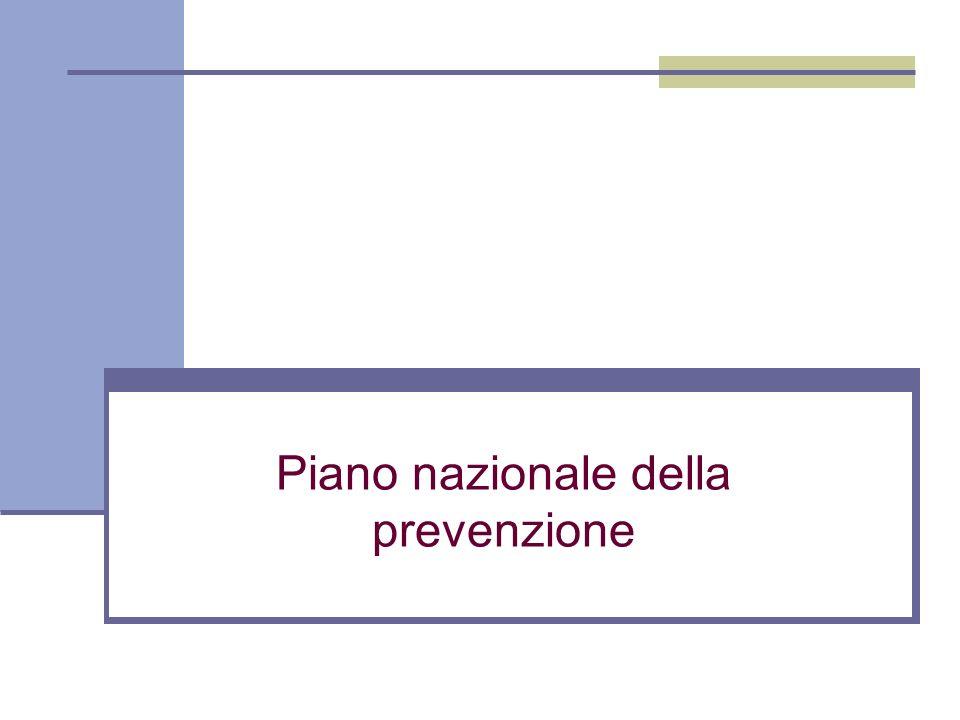 Piano nazionale della prevenzione