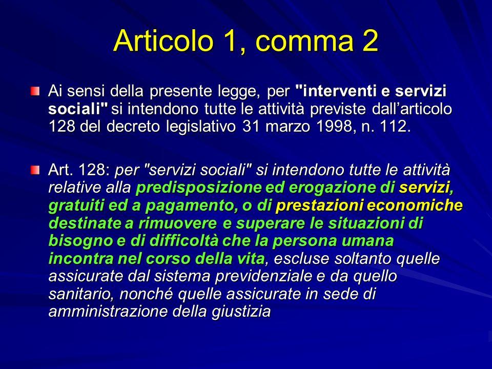 Articolo 1, comma 2 Ai sensi della presente legge, per