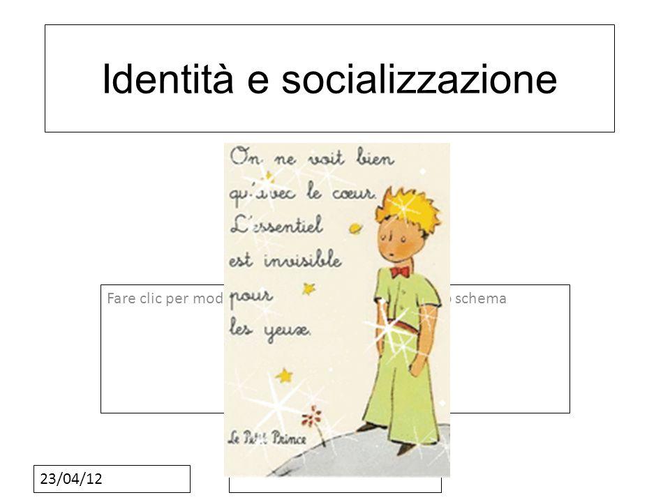 Fare clic per modificare lo stile del sottotitolo dello schema 23/04/12 Identità e socializzazione