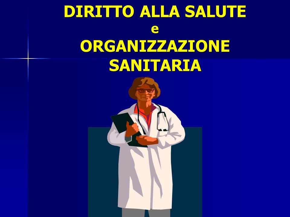 DIRITTO ALLA SALUTE e ORGANIZZAZIONE SANITARIA