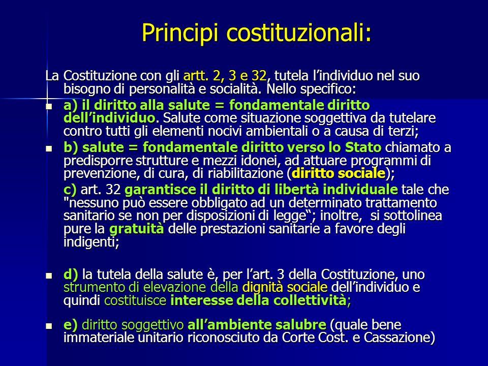 Principi costituzionali: La Costituzione con gli artt.