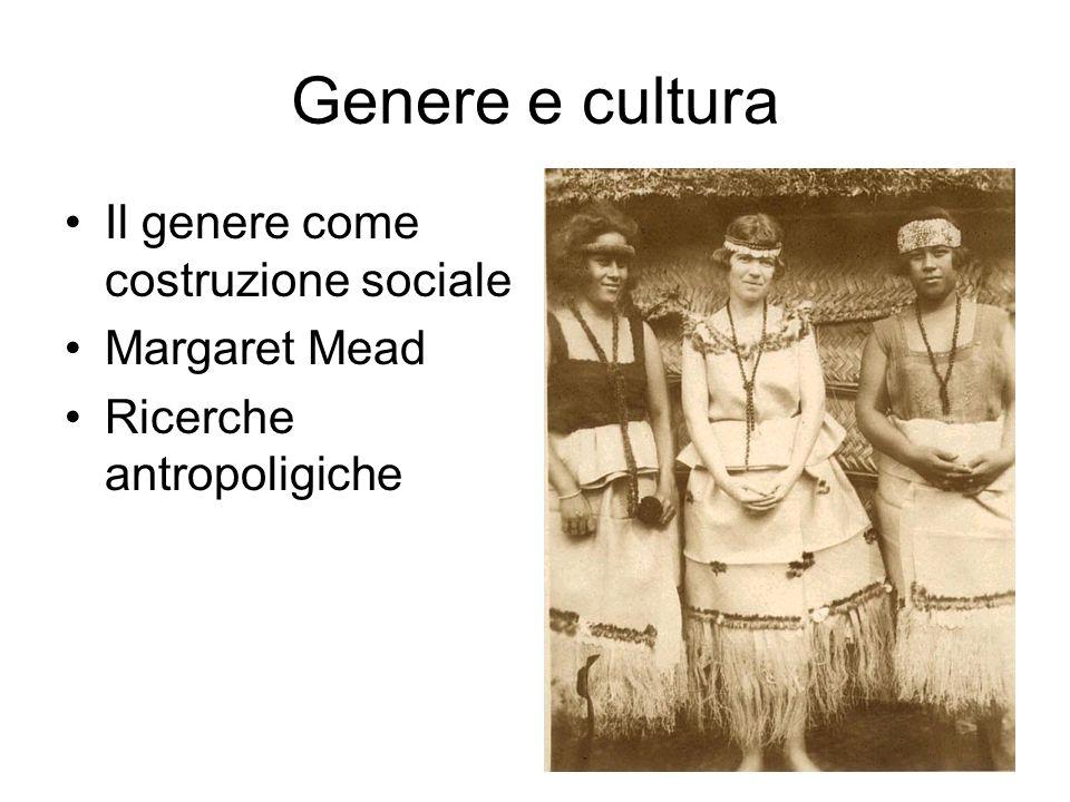 La divisione sessuale del lavoro Luniversale culturale.