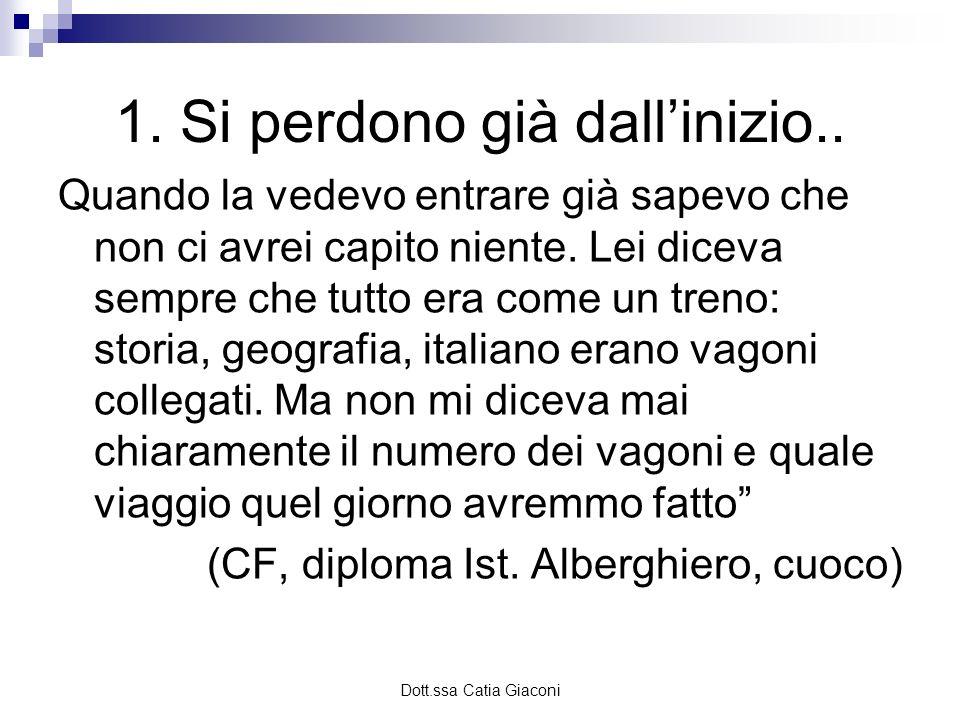 Dott.ssa Catia Giaconi Dare un recinto..