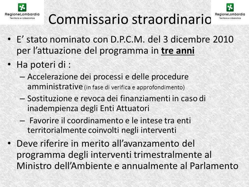 Il Commissario straordinario E stato nominato con D.P.C.M.