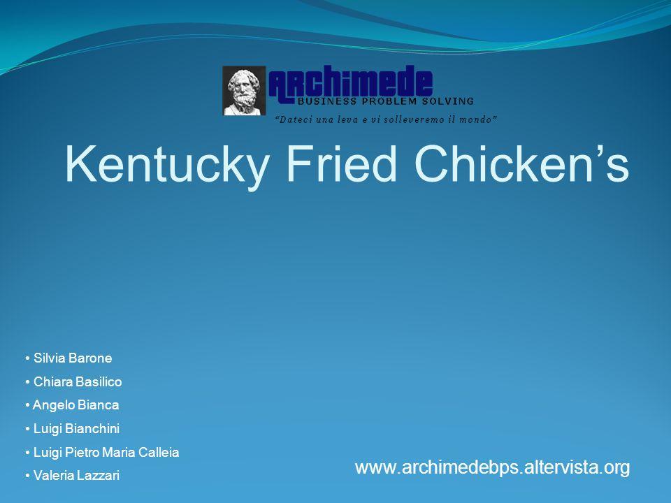 Kentucky Fried Chickens Silvia Barone Chiara Basilico Angelo Bianca Luigi Bianchini Luigi Pietro Maria Calleia Valeria Lazzari www.archimedebps.alterv