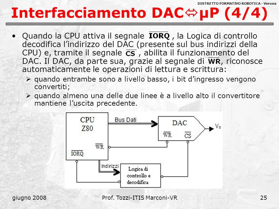 DISTRETTO FORMATIVO ROBOTICA - Verona giugno 2008Prof. Tozzi-ITIS Marconi-VR26 Approfondimenti