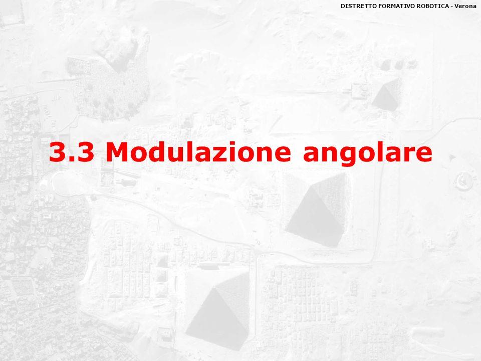 DISTRETTO FORMATIVO ROBOTICA - Verona 3.3 Modulazione angolare