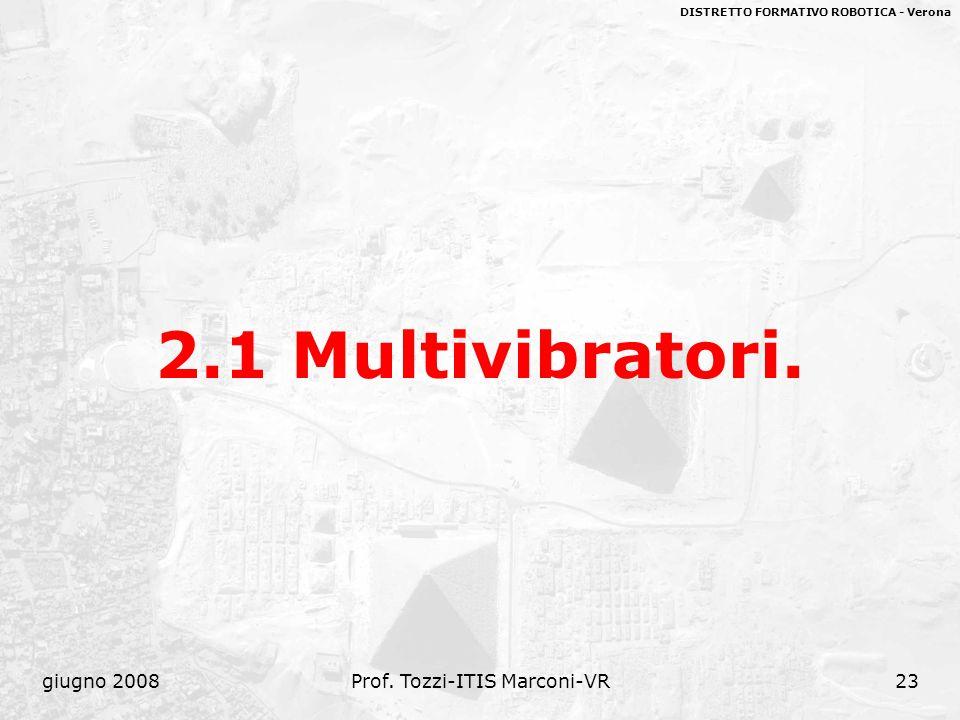 DISTRETTO FORMATIVO ROBOTICA - Verona giugno 2008Prof. Tozzi-ITIS Marconi-VR23 2.1 Multivibratori.