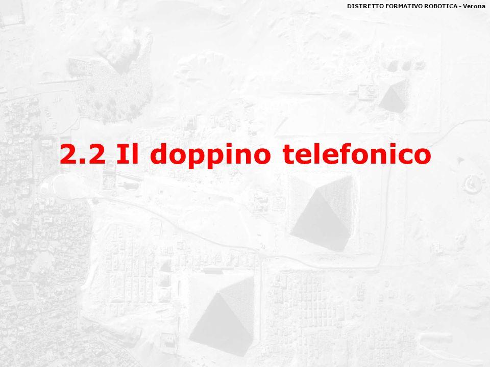 DISTRETTO FORMATIVO ROBOTICA - Verona giugno 20087 Il doppino telefonico IL DOPPINO INTRECCIATO, o ritorto, o binato (Twisted pair).