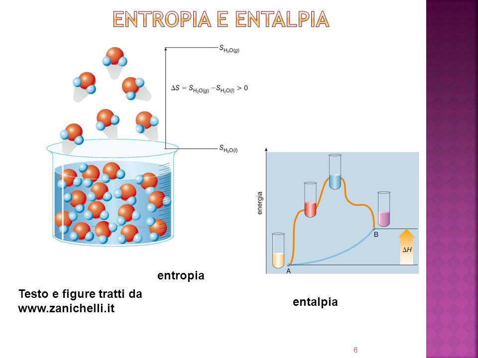 6 Testo e figure tratti da www.zanichelli.it entropia entalpia