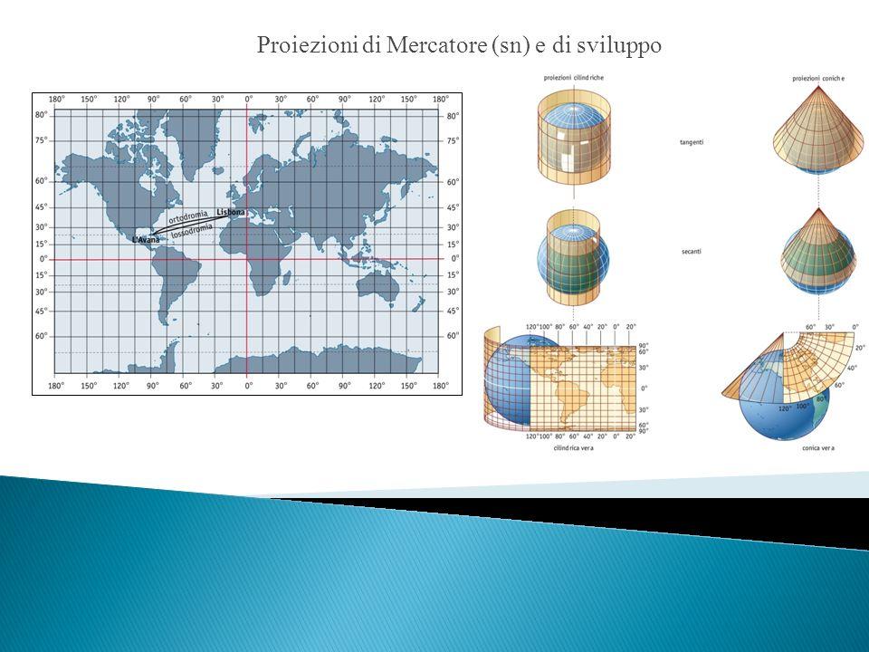 Proiezioni di Mercatore (sn) e di sviluppo