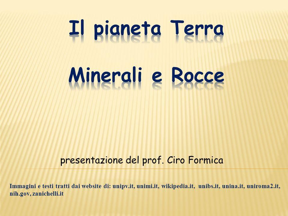 presentazione del prof. Ciro Formica Immagini e testi tratti dai website di: unipv.it, unimi.it, wikipedia.it, unibs.it, unina.it, uniroma2.it, nih.go