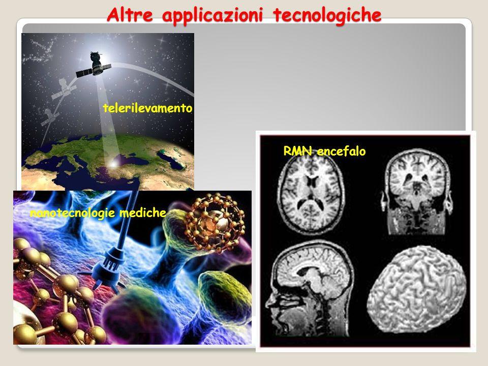Altre applicazioni tecnologiche 11 telerilevamento RMN encefalo nanotecnologie mediche