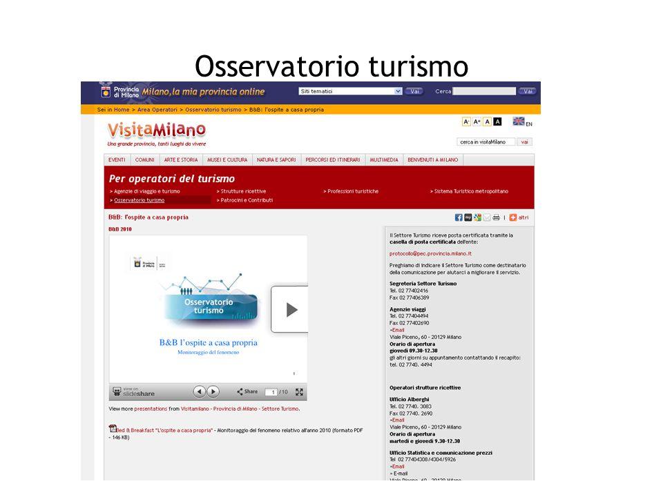 Osservatorio turismo