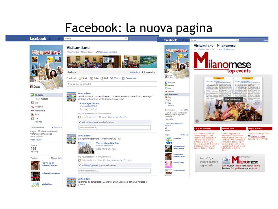 Facebook: la nuova pagina