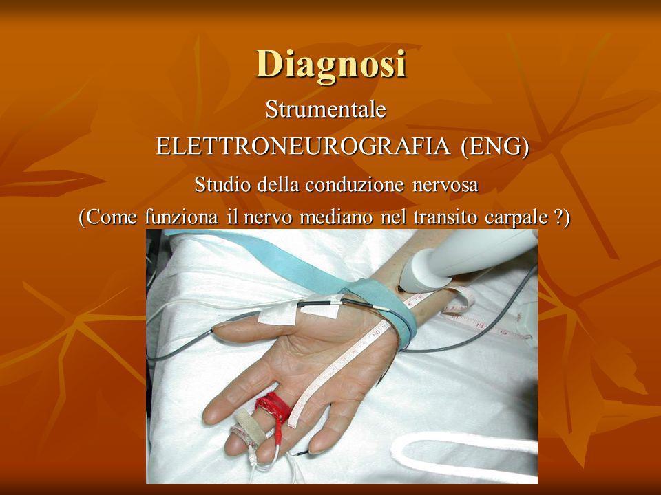 Diagnosi Strumentale Strumentale ELETTRONEUROGRAFIA (ENG) ELETTRONEUROGRAFIA (ENG) Studio della conduzione nervosa Studio della conduzione nervosa (Co