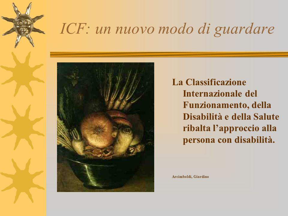 ICF: un nuovo modo di guardare La Classificazione Internazionale del Funzionamento, della Disabilità e della Salute ribalta lapproccio alla persona co