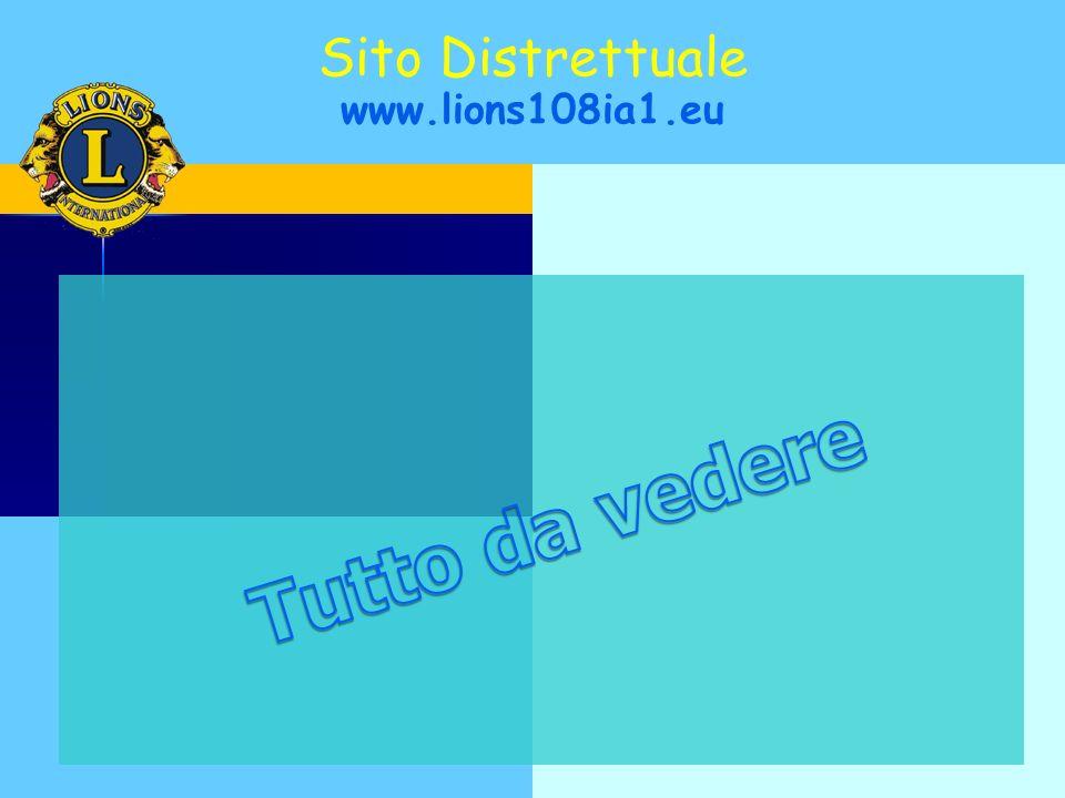 Sito Distrettuale www.lions108ia1.eu