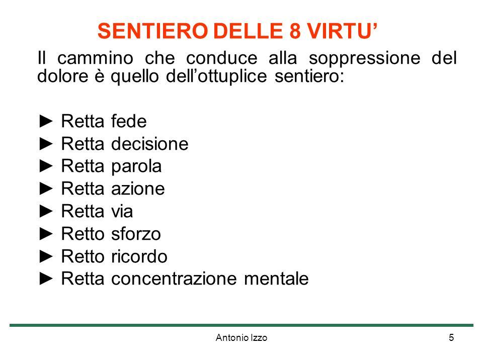 Antonio Izzo6 IL NULLA E LA FELICITÀ Il cammino delle Otto virtù ha un punto di arrivo: il Nirvana.