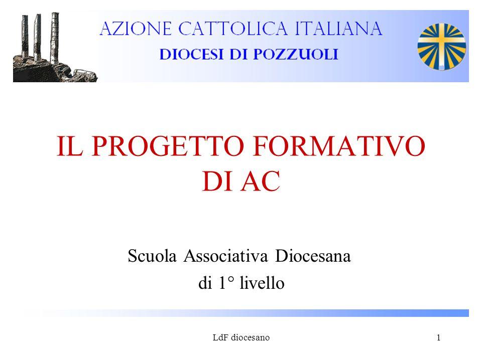 LdF diocesano1 IL PROGETTO FORMATIVO DI AC Scuola Associativa Diocesana di 1° livello