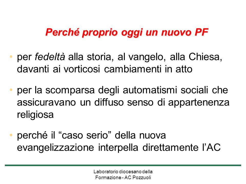 Laboratorio diocesano della Formazione - AC Pozzuoli CHIAVI INTERPRETATIVE 1.