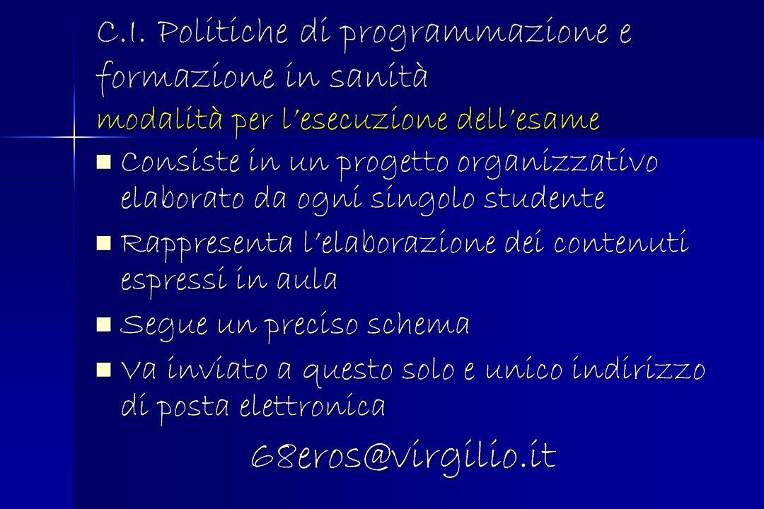 Consulenza Pianificazione dellattività 6.