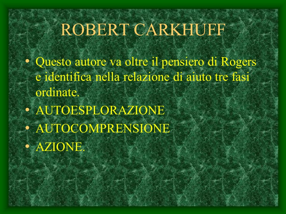 LArte di Aiutare Robert Carkhuff