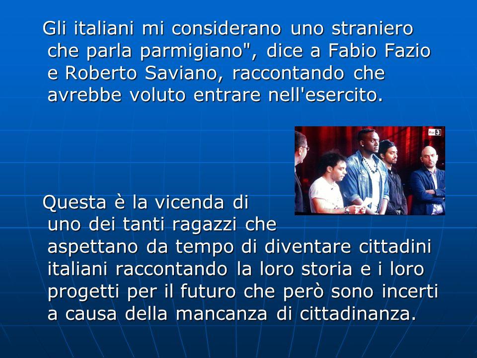 Gli italiani mi considerano uno straniero che parla parmigiano