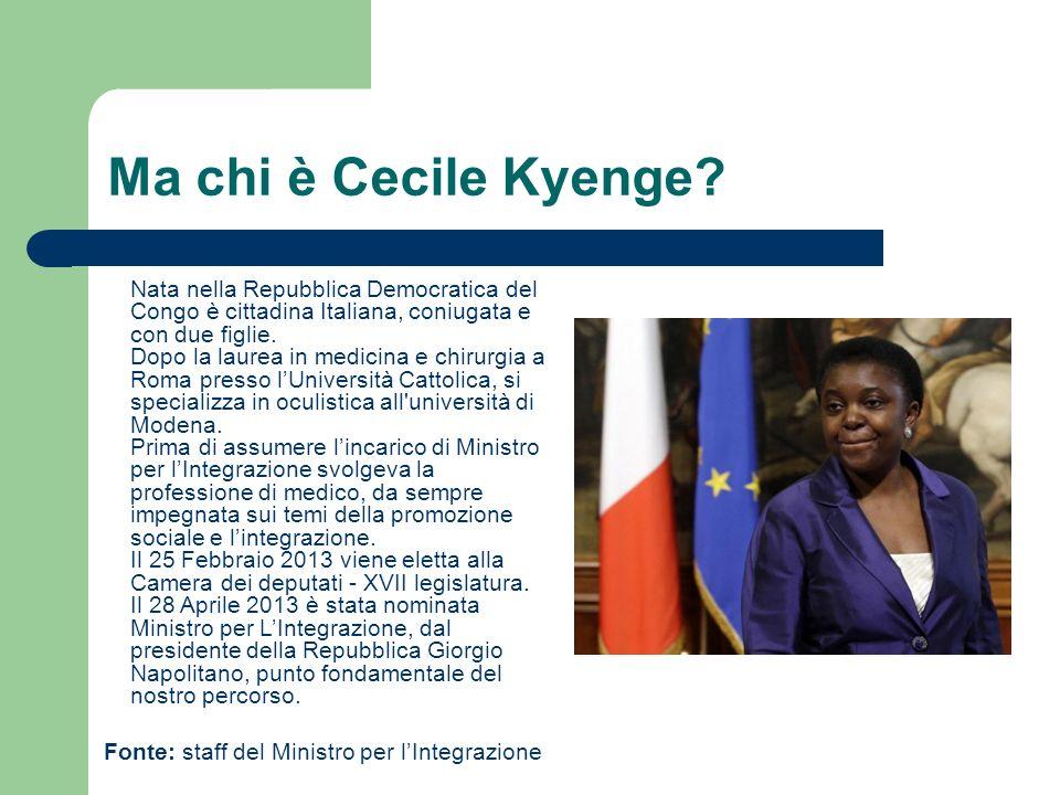 Ma chi è Cecile Kyenge.
