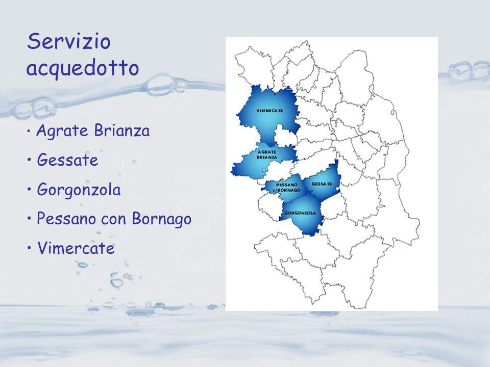 Agrate Brianza Gessate Gorgonzola Pessano con Bornago Vimercate Servizio acquedotto