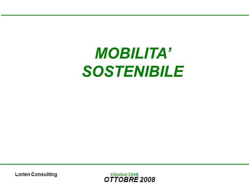 Lorien ConsultingOttobre 2008 MOBILITA SOSTENIBILE OTTOBRE 2008