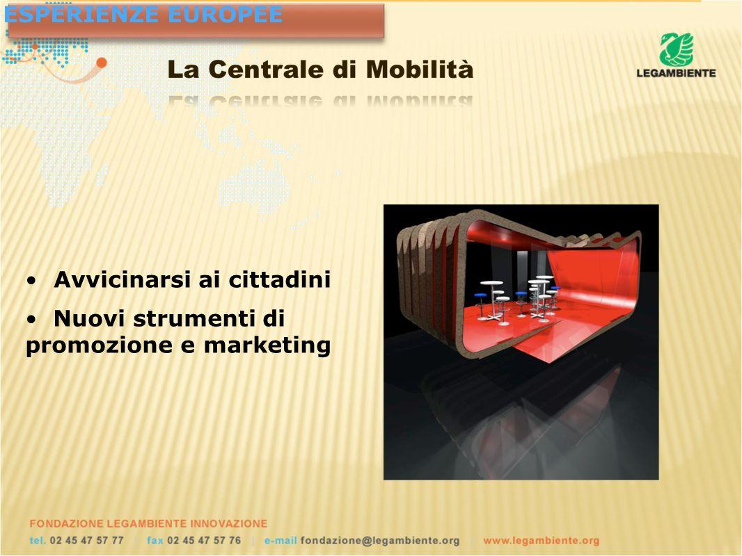 ESPERIENZE EUROPEE Avvicinarsi ai cittadini Nuovi strumenti di promozione e marketing