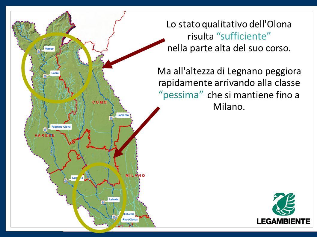 Lo stato qualitativo dell Olona risulta sufficiente nella parte alta del suo corso.