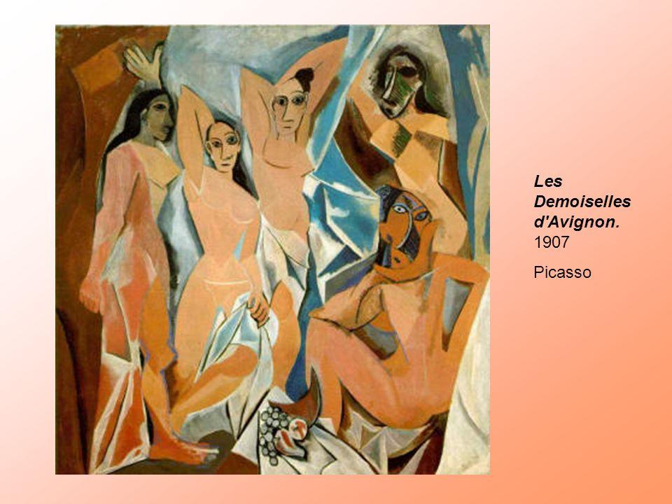 Les Demoiselles d'Avignon. 1907 Picasso