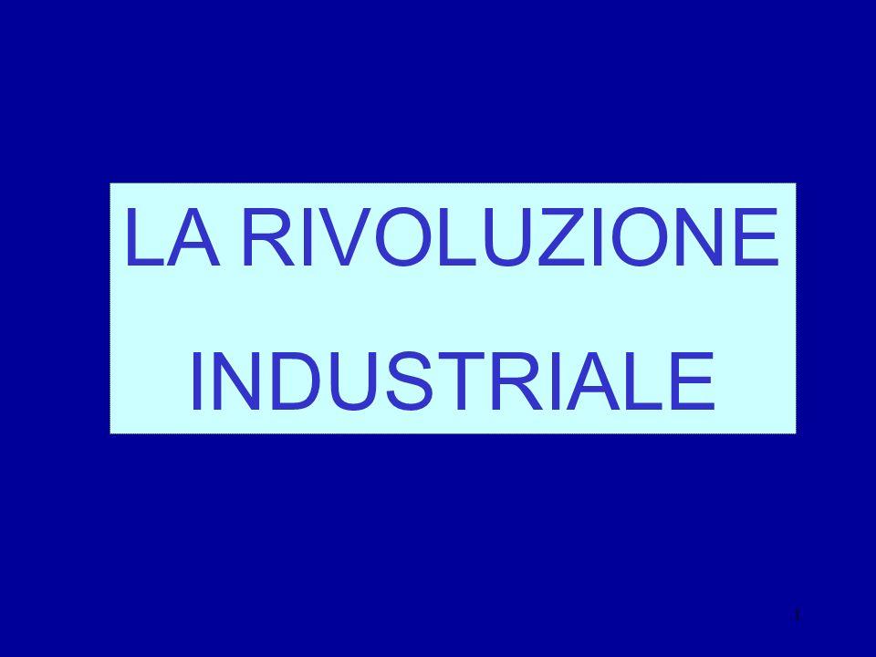 1 LA RIVOLUZIONE INDUSTRIALE