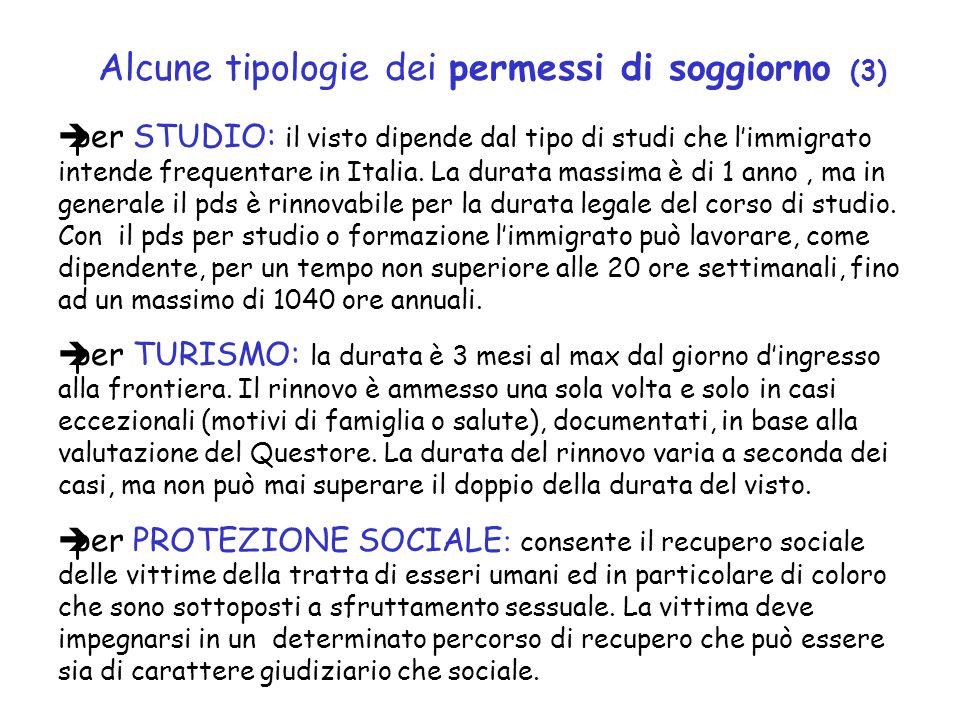 per STUDIO: il visto dipende dal tipo di studi che limmigrato intende frequentare in Italia.