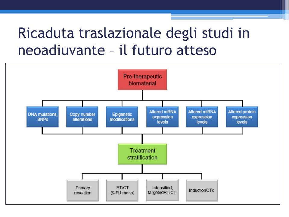 Ricaduta traslazionale degli studi in neoadiuvante – il futuro atteso
