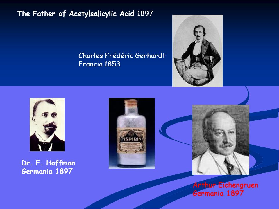 Nel 1828 Raffaele Michele Rocco Piria nato a Scilla, in Calabria, emigrato a Parigi diede al composto il nome attuale (acide salicylique).ScillaCalabriaParigi IppocrateIppocrate, considerato il padre della medicina, descrisse nel V secolo a.C.