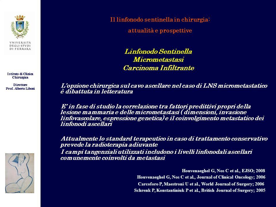 Istituto di Clinica Chirurgica Direttore Prof. Alberto Liboni Il linfonodo sentinella in chirurgia: attualità e prospettive Linfonodo Sentinella Micro
