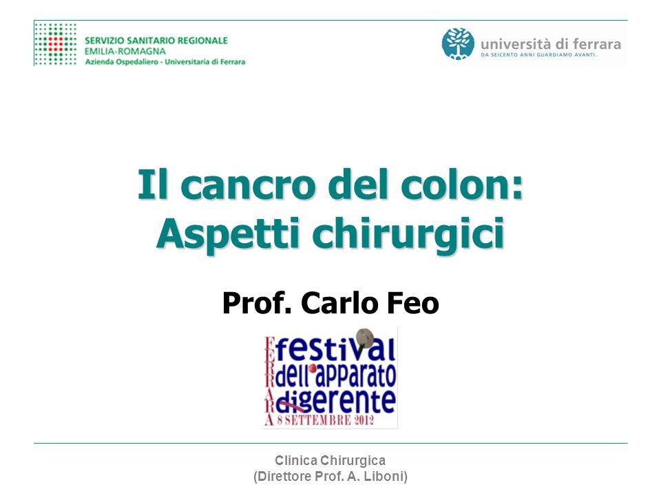 Il cancro del colon: Aspetti chirurgici Prof. Carlo Feo Clinica Chirurgica (Direttore Prof. A. Liboni)