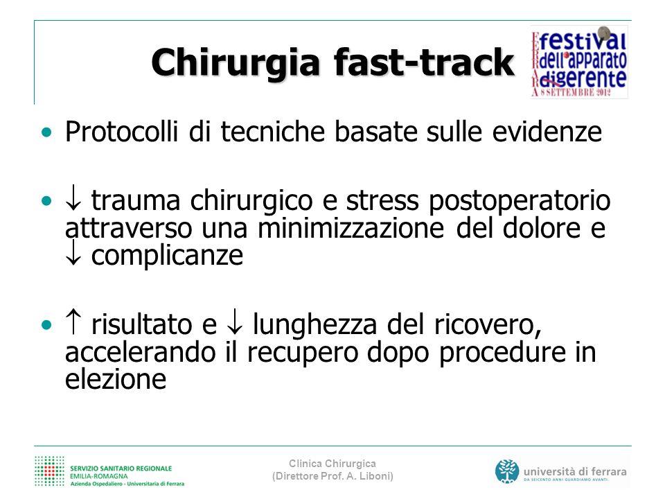 Chirurgia fast-track Protocolli di tecniche basate sulle evidenze trauma chirurgico e stress postoperatorio attraverso una minimizzazione del dolore e