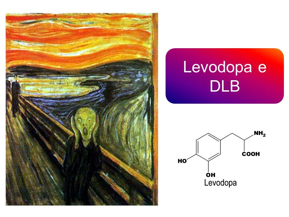 A 14 pazienti su 27 affetti da DLB è stata somministrata Levodopa 100 mg; il 36% di questi soggetti ha presentato un miglioramento >20% del punteggio UPDRS III, del test della deambulazione e dei movimenti fini delle mani (classificati come «RESPONDER») 19 pazienti su 27 hanno assunto Levodopa 323 mg per sei mesi consecutivi e solo 1 soggetto ha interrotto la terapia per esacerbazione dello stato confusionale e delle allucinazioni visive Molloy et al., 2005