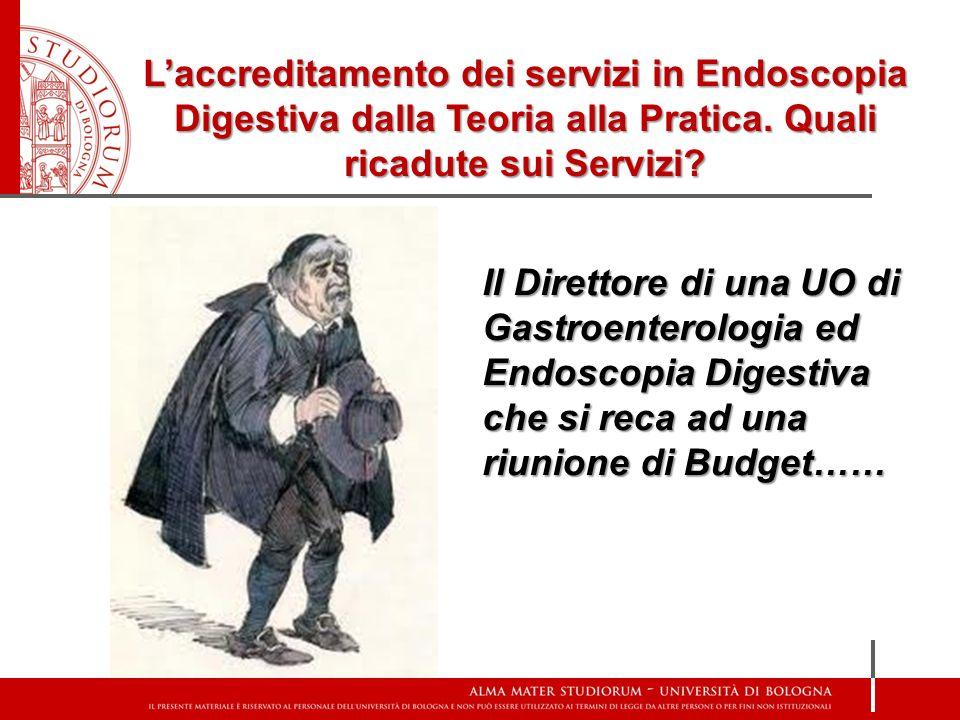 Il Direttore di una UO di Gastroenterologia ed Endoscopia Digestiva che si reca ad una riunione di Budget……