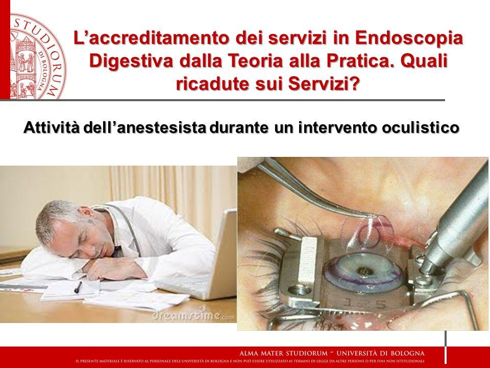 Laccreditamento dei servizi in Endoscopia Digestiva dalla Teoria alla Pratica. Quali ricadute sui Servizi? Attività dellanestesista durante un interve