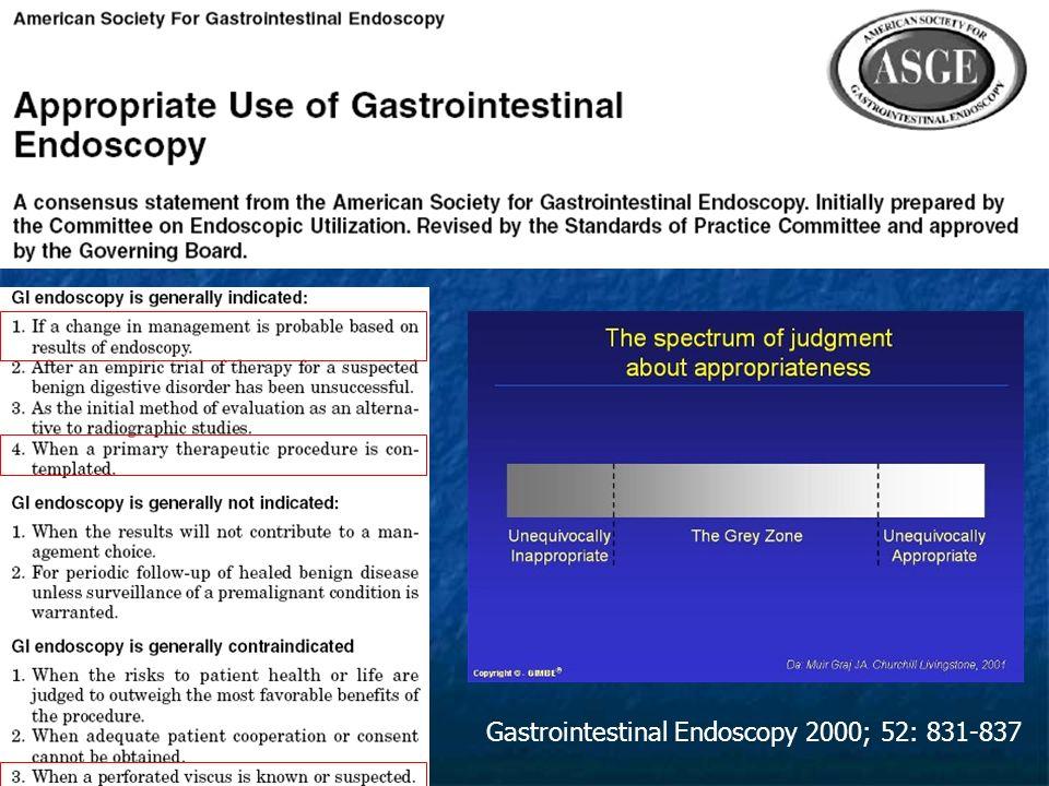 Gastrointestinal Endoscopy 2000; 52: 831-837