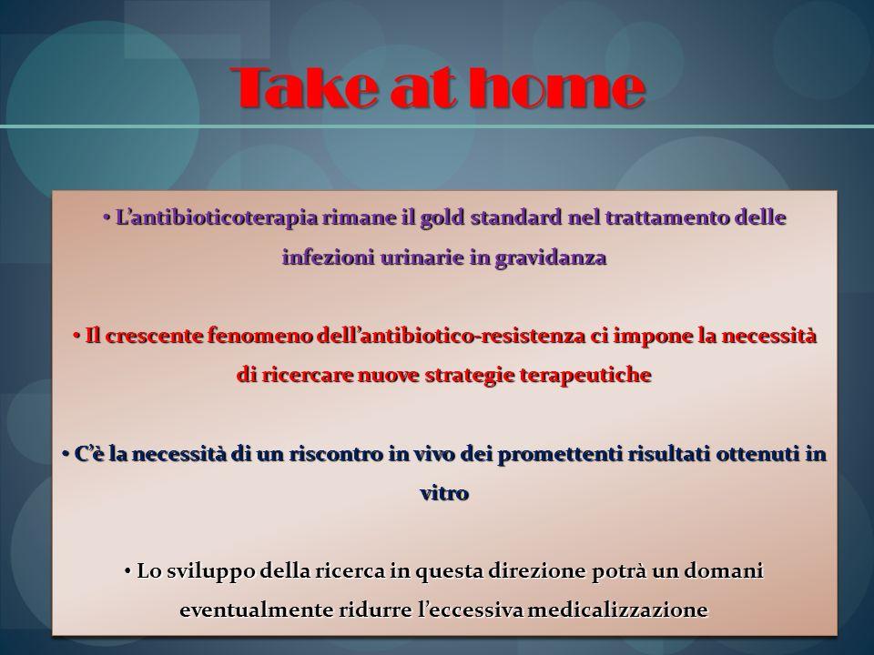 Take at home Lantibioticoterapia rimane il gold standard nel trattamento delle infezioni urinarie in gravidanza Lantibioticoterapia rimane il gold sta