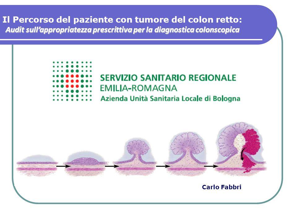 Il Percorso del paziente con tumore del colon retto: Audit sullappropriatezza prescrittiva per la diagnostica colonscopica Carlo Fabbri