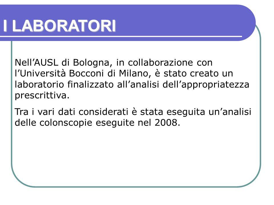 NellAUSL di Bologna, in collaborazione con lUniversità Bocconi di Milano, è stato creato un laboratorio finalizzato allanalisi dellappropriatezza prescrittiva.