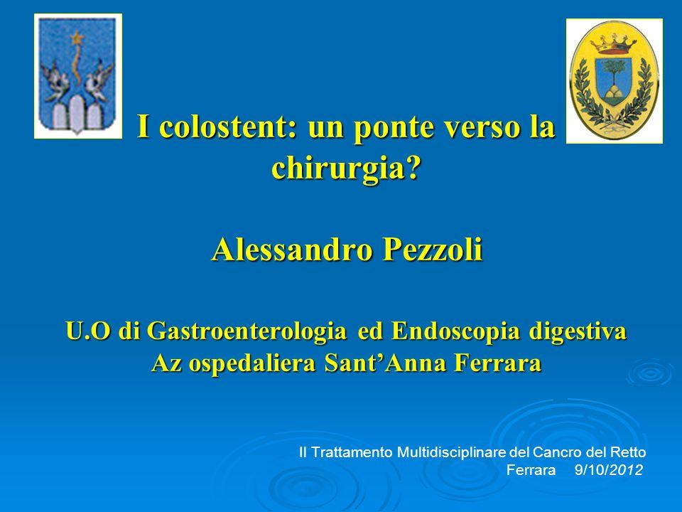 Sug Endosc 2012;26:110-19 8 lavori, 601 pz 232 stent vs 369 chirurgia