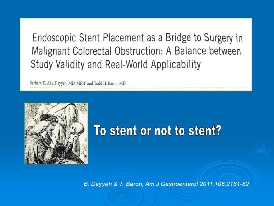 B. Dayyeh & T. Baron, Am J Gastroenterol 2011:106;2181-82